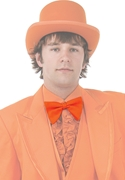 Bright Colored Tuxedos Orange Bow Tie