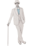 NEW Bright Colored Tuxedos Light Blue Ruffled Turndown Collar Shrit