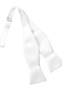 Tuxedo Park White Satin Self Tie Bow Tie