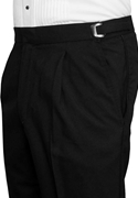 NEW After Six Black Pleated Beaded Side Stripe Super 100's Trouser