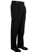 Classic Collection Black Double Pleated Suit Pants