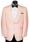 Andrew Fezza Pink 2 Button Shawl tuxedo coat