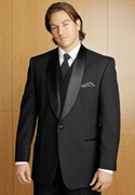 After Six Black 'Trevi' 41Button Shawl Tuxedo Coat
