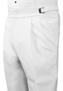 Classic Collection double Pleated White Trouser