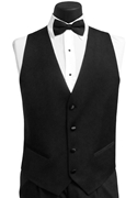 FCGI Black 'Parker' Ike Behar 4 Button Vest