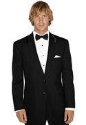 After Six Black 'Seven' 2 button Shawl tuxedo coat