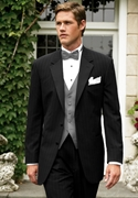 Lauren Ralph Lauren Black Stripe 'Whitney' Tuxedo Coat