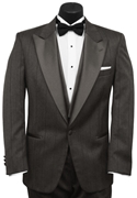 Grey Stripe 'Parisian' Tuxedo Coat by Christian Dior