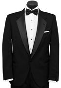 Black Notch Tuxedo Coat by Christian Dior