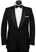Black 'Stewart' Tuxedo Coat by Classic Collection