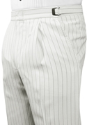 After Six White Stripe 'Zoot' Trousers