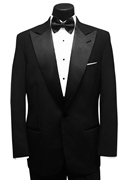 Black 'Keaton' Tuxedo Coat by Classic Collection