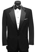 Black 'Fields' Tuxedo Coat by Classic Collection