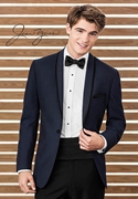 Sapphire Blue Calypso Tuxedo Coat by After Six
