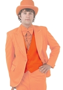 Bright Colored Tuxedos Orange Backless Vest