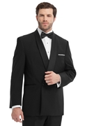 Calvin Klein Black 'Allure' Double-Breasted 2Button Shawl Tuxedo Coat
