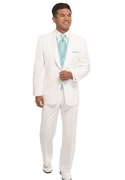 After Six White 'El Rey' 2 Button Shawl Tuxedo Coat