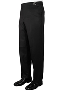 Black 'Ridge' Tonal Stripe Flat Front Trouser by Jean Yves