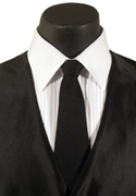 Classic Collection Black Self Tie Long Tie