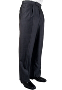 Oscar de la Renta Midnight Blue Pleated Trouser