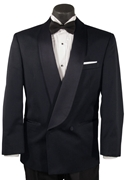 After Six Navy 'Avanti' 2 Button Shawl Double-Breasted Tuxedo Coat