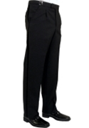 Classic Collection Black Single Pleat Formal Trouser