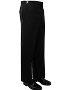Classic Collection Black Flat Front Trouser