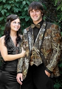 Bright Colored Tuxedo NEW Camouflage Alpine Two Button Notch Coat