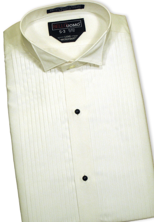 Classic Collection 'Nick' Ivory Turn Down Collar Shirt
