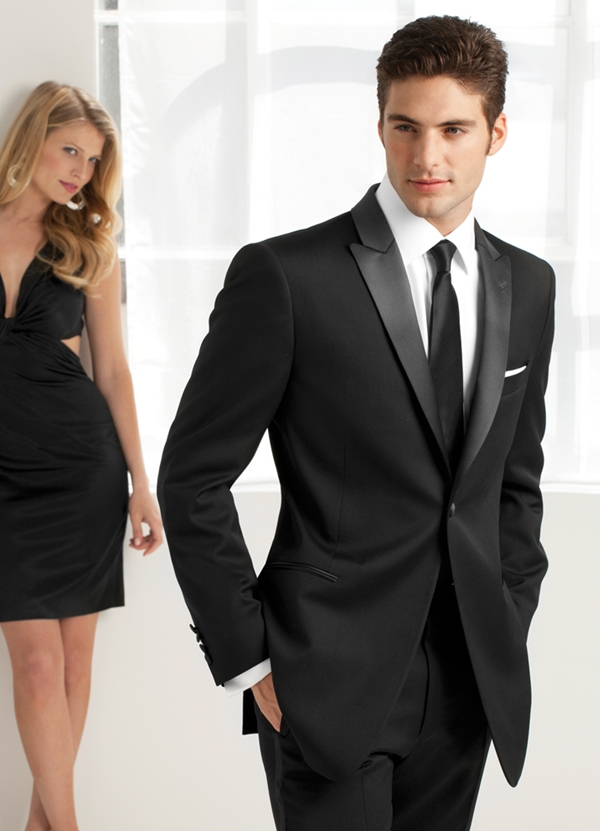NEW Black 'Jackson' Slim Fit Tuxedo Coat by Ike Behar