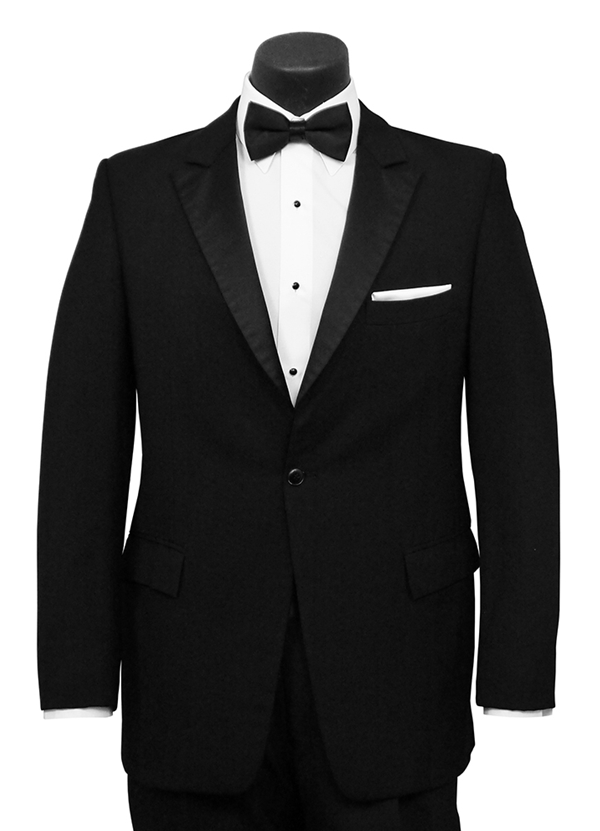 Black 'Wayne' Tuxedo Coat by Classic Collection