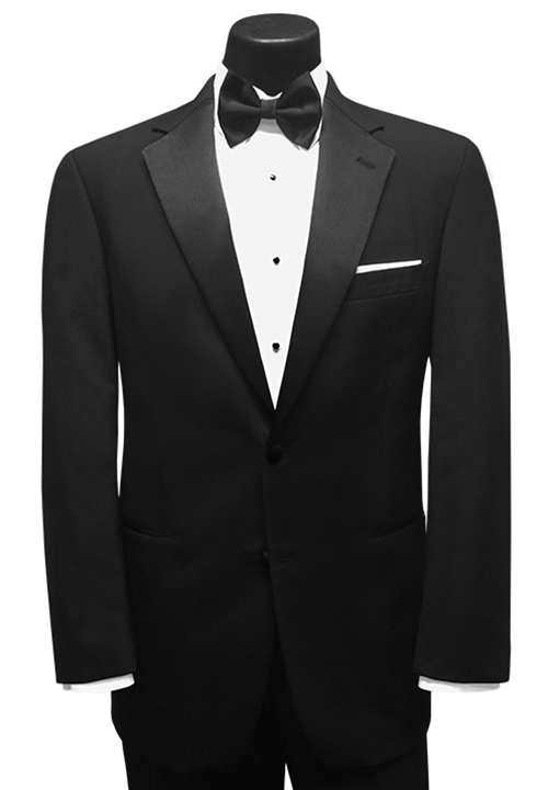 Black Chase' Tuxedo Coat by Classic Collection