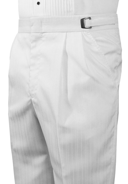 Jean Yves White Stripe 'Parisian' Trousers