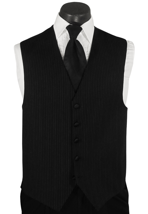 Calvin Klein Black Striped 'Infinity' Vest