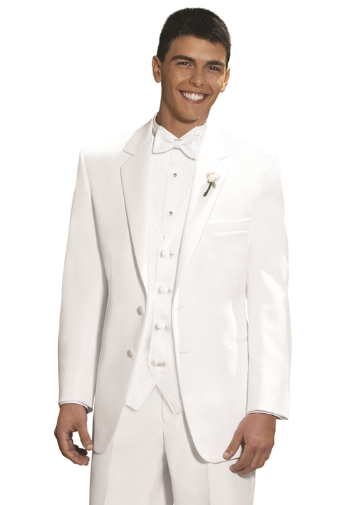 Perry Ellis White 'Virgo' Tuxedo Coat