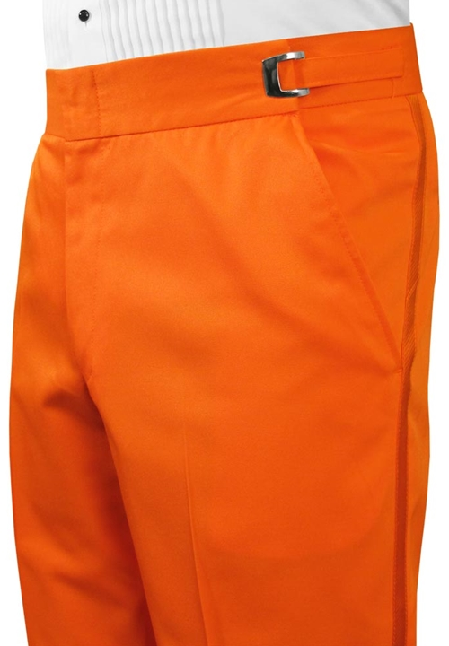 BCT Orange Flat Front Trousers