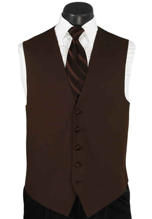 After Six Mahogany Brown Vest