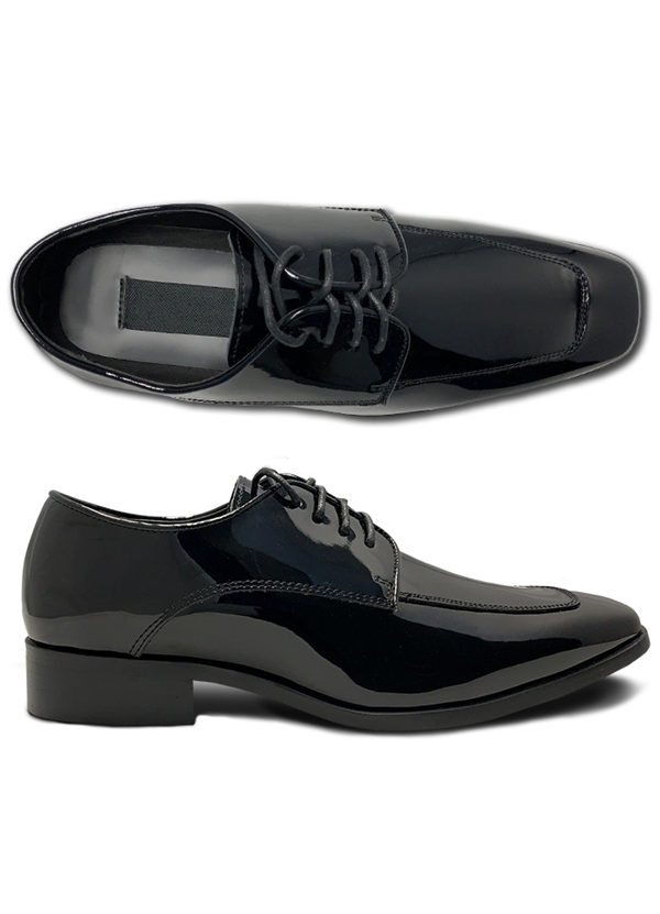 NEW Black Patent Leather 'Bravo'  Tux 1 Lace-up Shoes