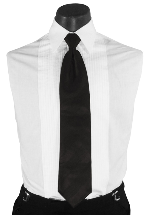 CALVIN KLEIN Black Long Stripe Tie