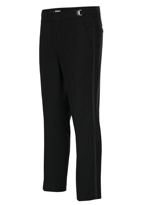NEW Black Ultra Slim Poly Tuxedo Trousers