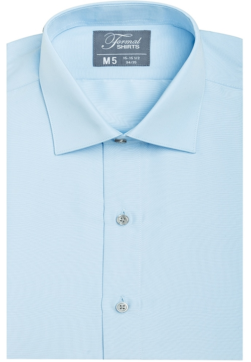 Formal Shirts Jessie Fitted Blue Spread Collar Shirt