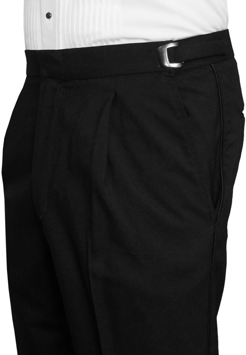 After Six Black Single Pleat Formal Trouser