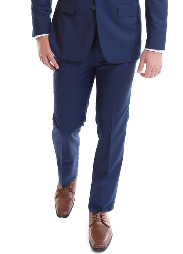"NEW French Blue ""Modern Fit"" Pant by David Major"