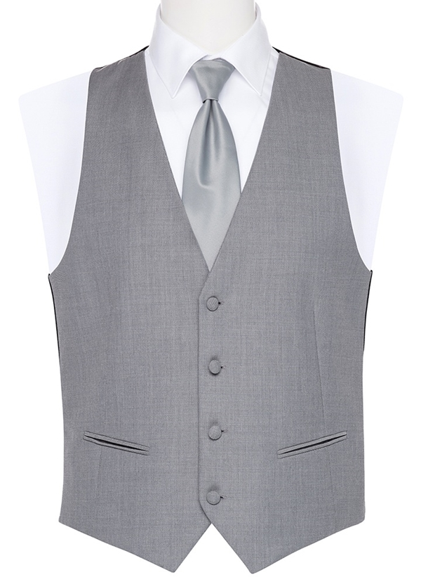 Heather Grey Poly Wool Vest