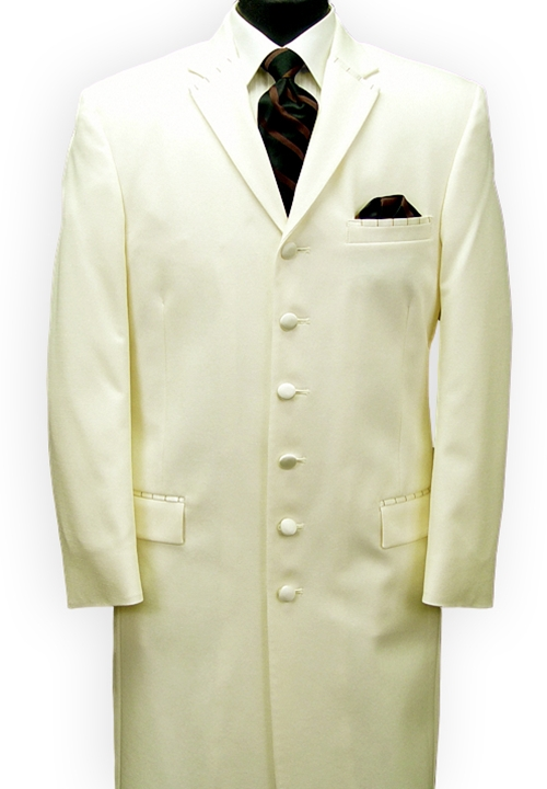 Ecko Ivory 'Extreme' 6 Button Notch Tuxedo Coat