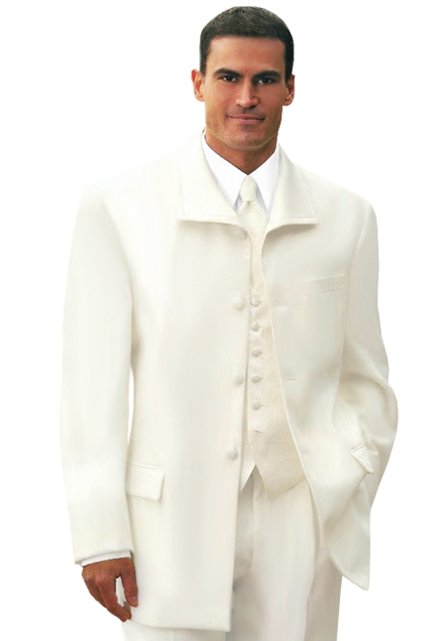 Geoffrey Beane Ivory 'Newport' 3 Button Fashion Lapel Coat