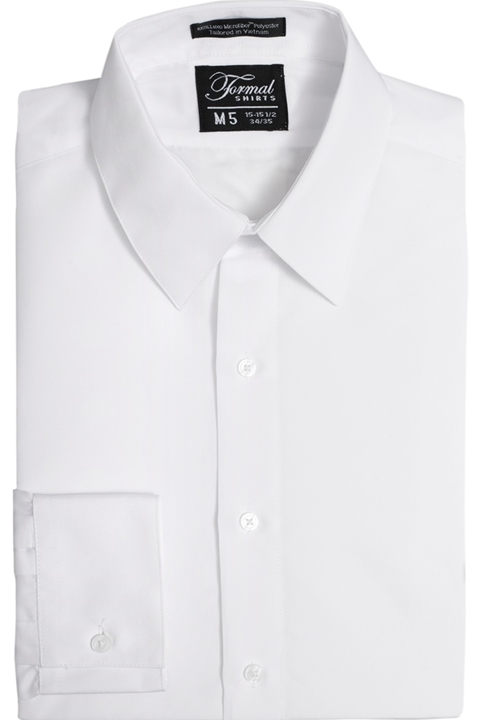 White Turn Down Collar Shirt