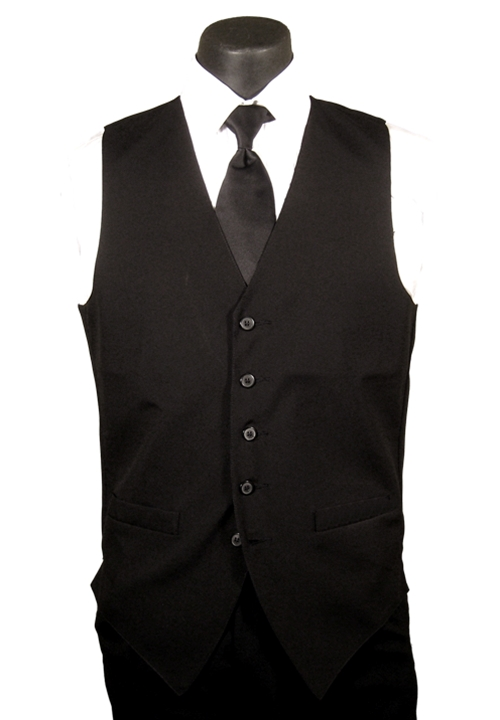 Classic Collection Black Wool Vest