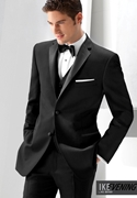 NEW Ike Behar Black 'Parker' Slim Tuxedo Coat