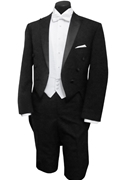 Classic Collection Black 'Milan' Peak Tailcoat